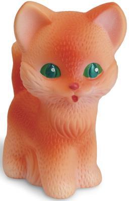 Купить Резиновая игрушка для ванны Огонек Котенок Рыжик 12 см С-354, рыжий, Игрушки для купания