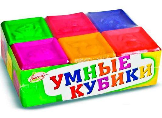 Кубики ВЕСНА Умные кубики от 3 лет 6 шт 4690213012219