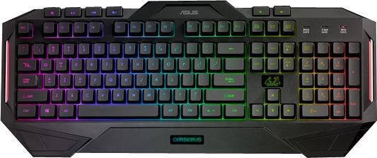 Клавиатура проводная ASUS CERBERUS MKII 90YH0131-B2RA00 USB черный клавиатура asus strix tactic pro cherry mx black black usb 90yh0081 b2ra00