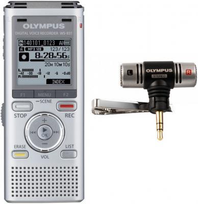Цифровой диктофон Olympus WS-831 2Гб серебристый + ME-51S