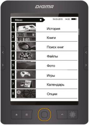 "Электронная книга Digma R651 6"" E-Ink 4Gb серый"