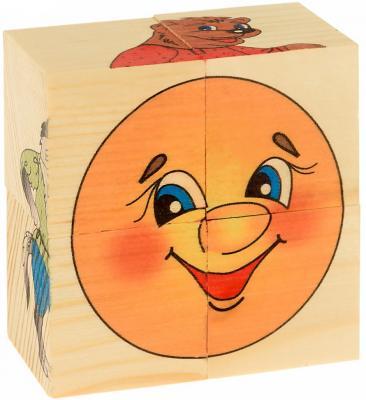Фото - Кубики Русские деревянные игрушки Колобок от 3 лет 4 шт Д502а развивающие деревянные игрушки кубики фрукты