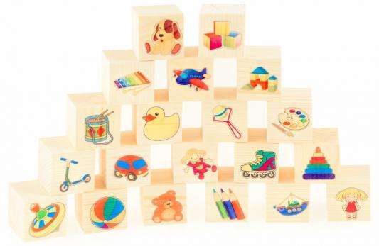 Кубики Русские деревянные игрушки Игрушки от 3 лет 20 шт русские деревянные игрушки