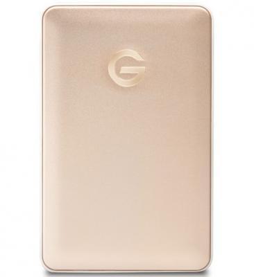 """Внешний жесткий диск 2.5"""" USB-C 1 Tb Western Digital G-Tech G-Drive Mobile 0G04843 золотистый"""