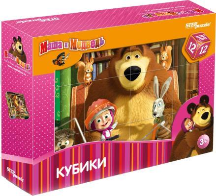 Кубики Степ Маша и Медведь 12 шт 87134 кубики step puzzle baby step 4 шт