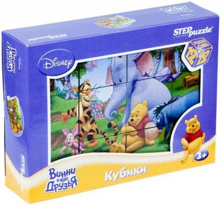 Купить Кубики Step Puzzle Медвежонок Винни от 3 лет 12 шт 87155, Кубики и стенки