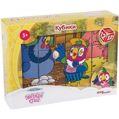 Кубики Степ Попугай Кеша 12 шт. 87344 12 кубиков союзмультфильм попугай кеша
