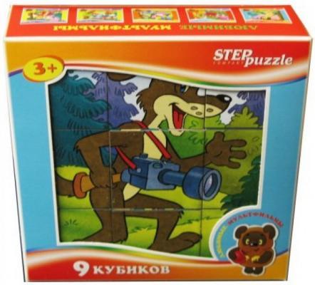 Кубик Step Puzzle Любимые мультфильмы-4 от 3 лет 9 шт кубики step puzzle baby step 4 шт