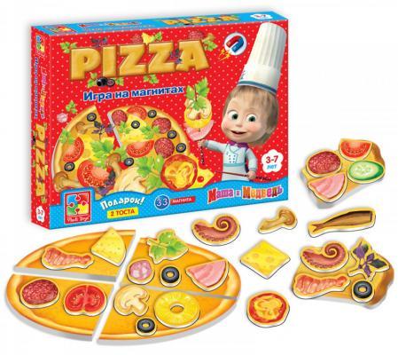 Магнитная игра Vladi toys развивающая «Маша и Медведь» Пицца