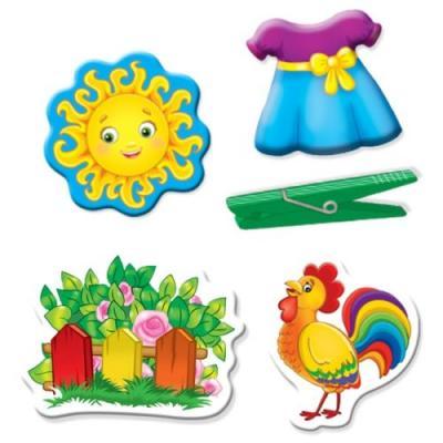 Купить Настольная игра Vladi toys развивающая Прищепочки и липучки Домик, Развивающие настольные игры