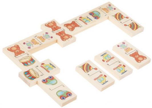 Настольная игра домино Русские деревянные игрушки Игрушки-1  Д204а