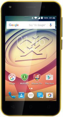 "Смартфон Prestigio Wize L3 жёлтый 4"" 4 Гб Wi-Fi GPS 3G PSP3403DUOYELLOW"
