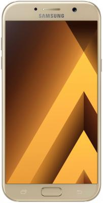 Смартфон Samsung Galaxy A3 Duos 2017 золотистый 4.7 16 Гб NFC LTE Wi-Fi GPS 3G SM-A320FZDDSER мобильный телефон samsung galaxy a5 2016 16 gb sm a 510 f розовый