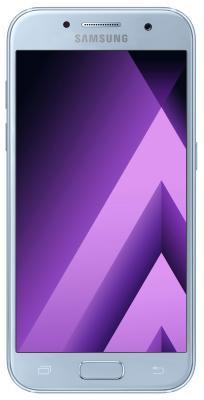 Смартфон Samsung Galaxy A3 Duos 2017 голубой 4.7 16 Гб LTE Wi-Fi GPS 3G NFC SM-A320FZBDSER samsung galaxy s4 2 ядра dual 5 дюймов wi fi duos android 4 0 2 sim