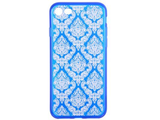 Накладка LP Цветочный узор для iPhone 7 синий прозрачный 0L-00029604