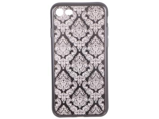 Силиконовый чехол для iPhone 7 TPU Цветочный узор (серый/прозрачный) 0L-00029602