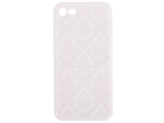Силиконовый чехол для iPhone 7 TPU Цветочный узор (белый/прозрачный) 0L-00029606