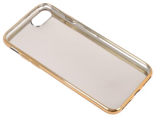 Силиконовый чехол для iPhone 7 TPU Кожа и дерево (золотой) 0L-00029524