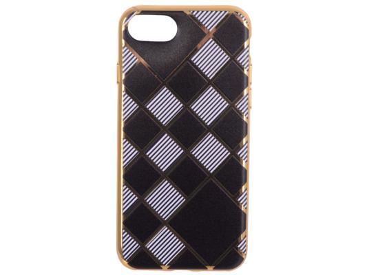 Силиконовый чехол для iPhone 7 TPU Клетка с полосками (золотой) 0L-00029551