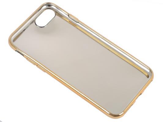 Силиконовый чехол для iPhone 7 TPU Клетка бежевая (золотой) 0L-00029560