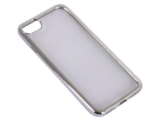 Силиконовый чехол с рамкой для iPhone 7 DF iCase-08 (silver)