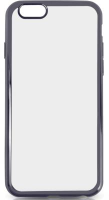 Силиконовый чехол с рамкой для iPhone 7 DF iCase-08 (black)
