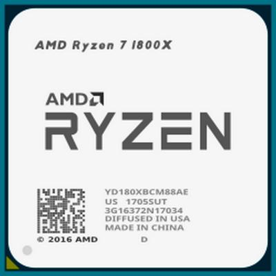 Процессор AMD Ryzen 7 1800X YD180XBCM88AE Socket AM4 OEM процессор amd ryzen 7 2700x oem
