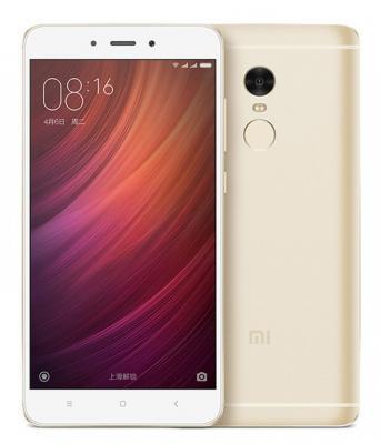 Смартфон Xiaomi Redmi Note 4 золотистый 5.5 32 Гб LTE Wi-Fi GPS 3G REDMINOTE4GD32GB смартфон zte blade v8 золотистый 5 2 32 гб lte wi fi gps 3g bladev8gold