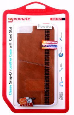 купить Накладка Promate Slit-i6P для iPhone 6 Plus коричневый недорого