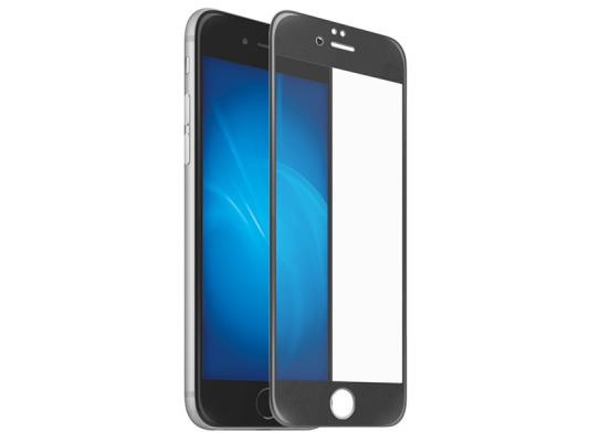 Закаленное стекло 3D с цветной рамкой (fullscreen) для iPhone 6/6S DF iColor-04 (black)