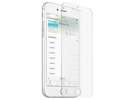 Закаленное стекло с дублирующими кнопками для iPhone 6 Plus/6S Plus DF iButton-02