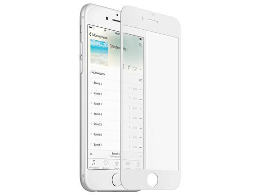 Закаленное стекло с дублирующими кнопками с цветной рамкой для iPhone 6 Plus/6S Plus DF iButtonColor-02 (white)