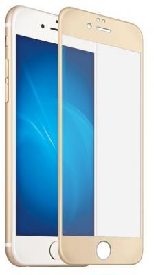Закаленное стекло 3D с цветной рамкой (fullscreen) для iPhone 7 DF iColor-09 (gold)