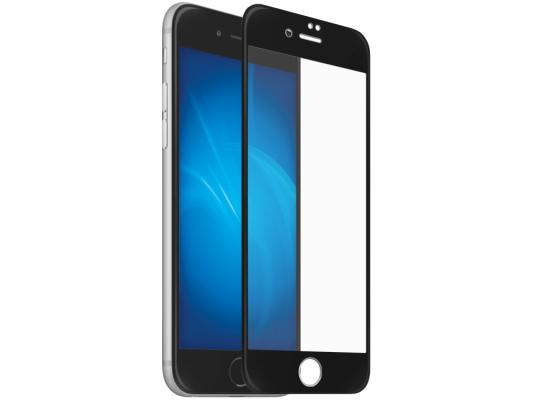 DF Закаленное стекло 3D с цветной рамкой (fullscreen) для iPhone 7 Plus DF iColor-10 (black)