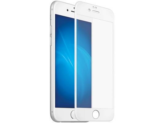 Закаленное стекло с цветной рамкой (fullscreen) для iPhone 7 DF iColor-07 (white)