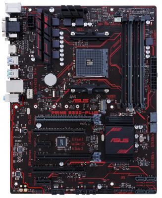 Мат. плата для ПК ASUS PRIME B350-PLUS Socket AM4 AMD B350 4xDDR4 2xPCI-E 16x 2xPCI 2xPCI-E 1x 4xSATAIII ATX Retail материнская плата asus h81m r c si h81 socket 1150 2xddr3 2xsata3 1xpci e16x 2xusb3 0 d sub dvi vga glan matx