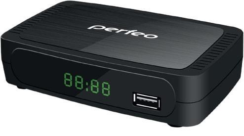 Тюнер цифровой DVB-T2 Perfeo PF-120-2 d color dc700hd dvb t2 цифровой тв тюнер
