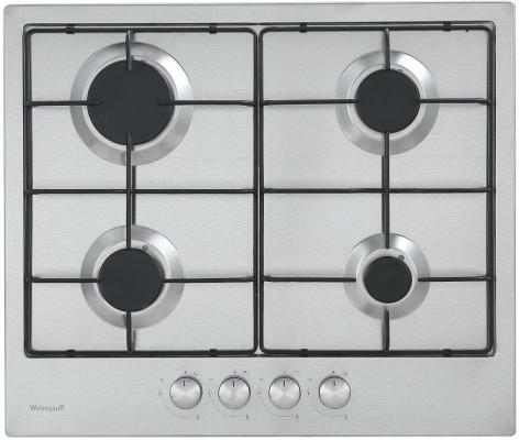 Варочная панель газовая Weissgauff HG 604 X серебристый