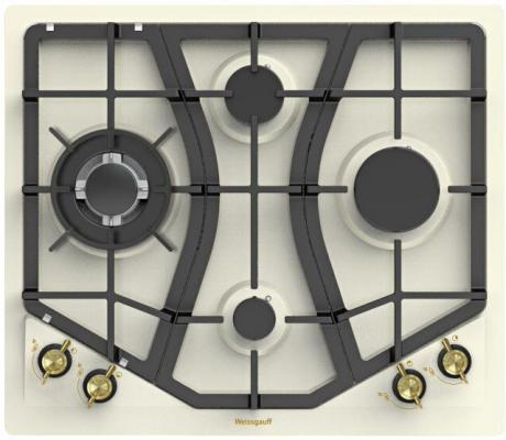Варочная панель газовая Weissgauff HGRG 641 OWR бежевый газовая варочная панель weissgauff hgg 751 owr