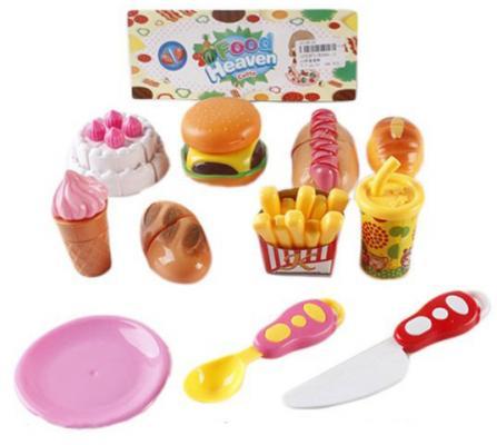 Набор для резки Shantou Gepai Food Heaven с посудой RZ960-11 имитированные продукты для детей food play re ment