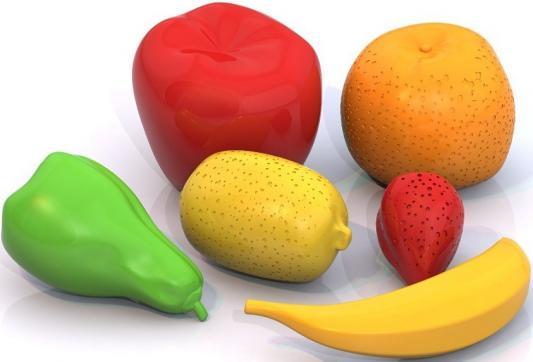 Набор фруктов Нордпласт 6 предметов 433