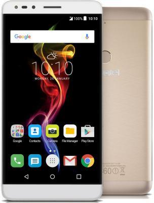 Смартфон Alcatel OneTouch 7070 POP 4-6 золотистый 6 16 Гб Wi-Fi GPS 3G LTE смартфон alcatel onetouch ot6055k idol 4 серый 5 2 16 гб nfc lte wi fi gps 3g