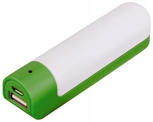 Портативное зарядное устройство Hama Fusion 2600мАч зеленый/белый 00136154