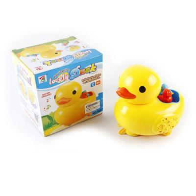 Интерактивная игрушка Shantou Gepai Утка с утятами от 3 лет жёлтый 6927714646031