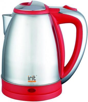 Чайник Irit IR-1314 1500 Вт красный серебристый 1.8 л нержавеющая сталь