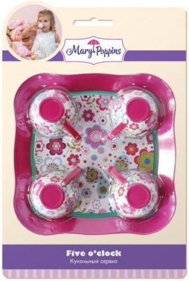 Набор посуды Mary Poppins Цветы, 5 предметов металлическая 453024
