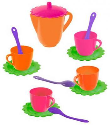 Купить Чайный набор Mary Poppins Цветок 14 предметов 39327, разноцветный, Игрушечная посуда