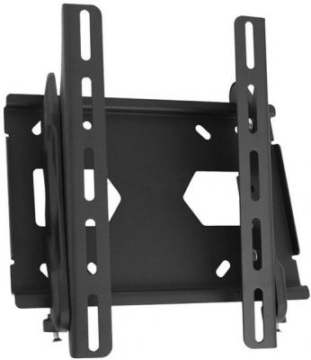 Кронштейн Holder LCD-T2512-B черный для ЖК ТВ 10-42 настенный от стены 63мм наклон +15/-3° VESA 300x300 до 40 кг кронштейн north bayou t3260 для жк тв 32 60 потолочный высота 900 1500мм наклон 20° 2° поворот 360° vesa 400x600 до 45 5 кг серебристый