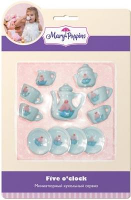 Набор посуды Mary Poppins Пирожные, 13 предметов фарфоровая 453020