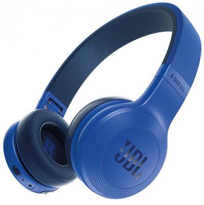 Гарнитура JBL E45BT синий JBLE45BTBLU jbl e45bt синий складная портативная гарнитура bluetooth гарнитура беспроводная стерео гарнитура музыка
